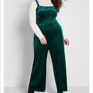 New 1x ModCloth green wide leg jumpsuit